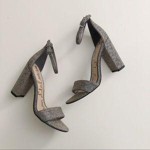 SAM EDELMAN sparkly block heels